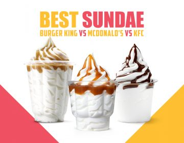 Burger King vs McDonald's vs KFC - Miglior Sundae