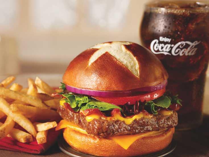 Pretzel Bacon Cheeseburger. Pretzel? Pretzel!