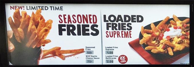 Taco Bell sperimenta… delle patatine fritte!