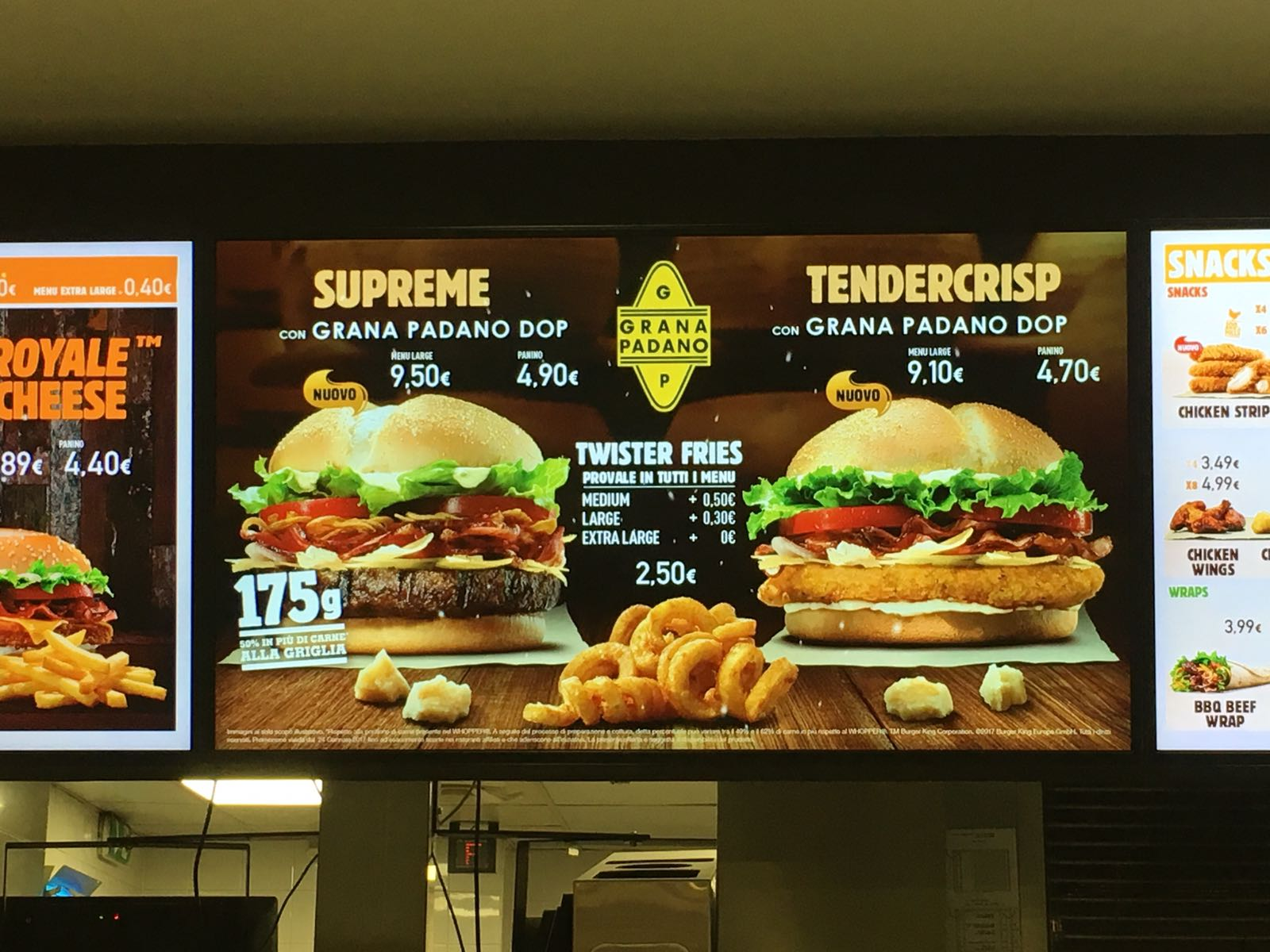 Supreme con Grana Padano DOP e Tendercrisp con Grana Padano DOP – Abbiamo provato i nuovi panini di Burger King al posto vostro