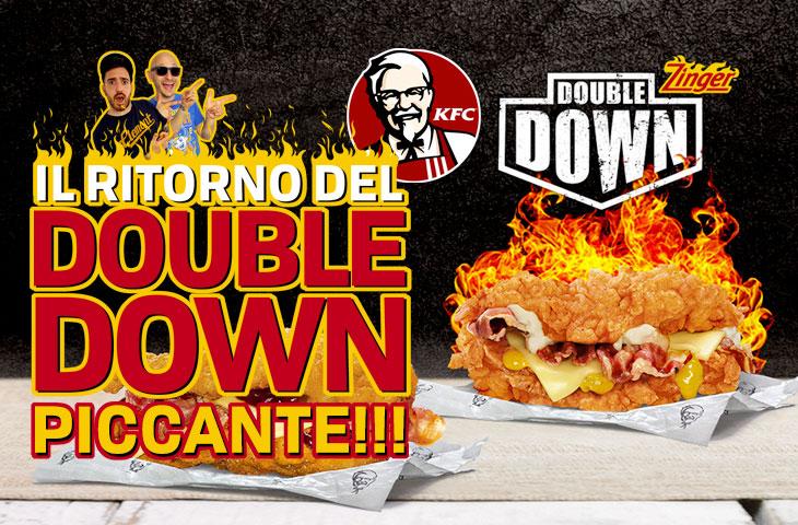 Il ritorno del Double Down! Recensione Zinger Double Down