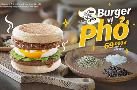 Il nuovo Pho Burger di McDonald's Vietnam!