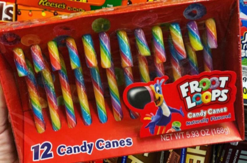 I Froot Loops diventano bastoncini di zucchero per Natale