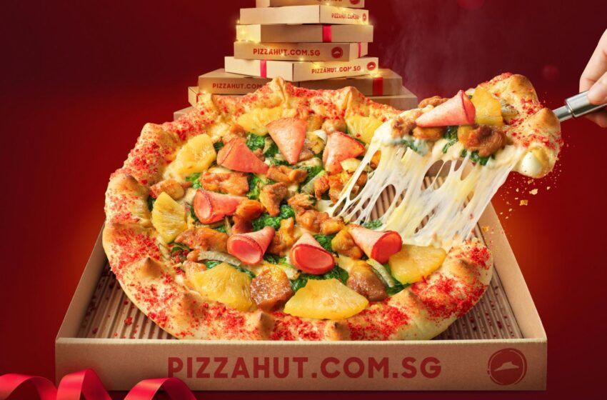 La Christmas Super Pan Pizza di Pizza Hut Singapore è assurda!
