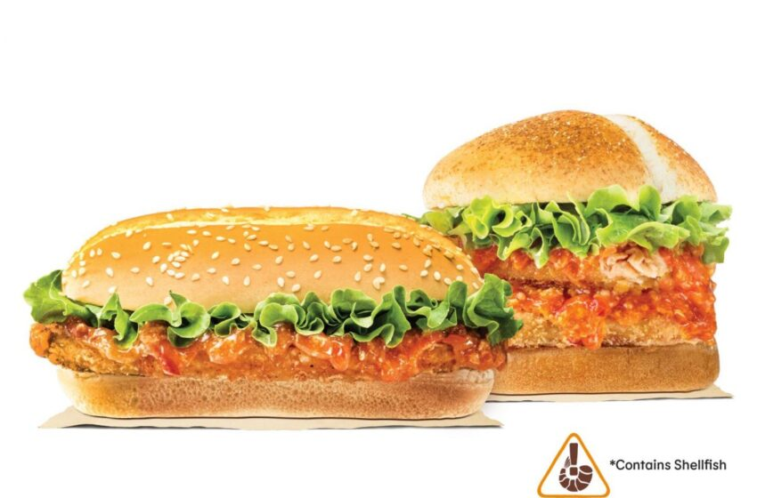 Burger King Singapore sceglie il granchio per il nuovo menu del 2021