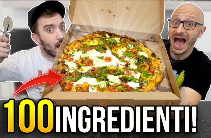 ORDINIAMO UNA PIZZA CON 100 INGREDIENTI! *Guinness World Record*