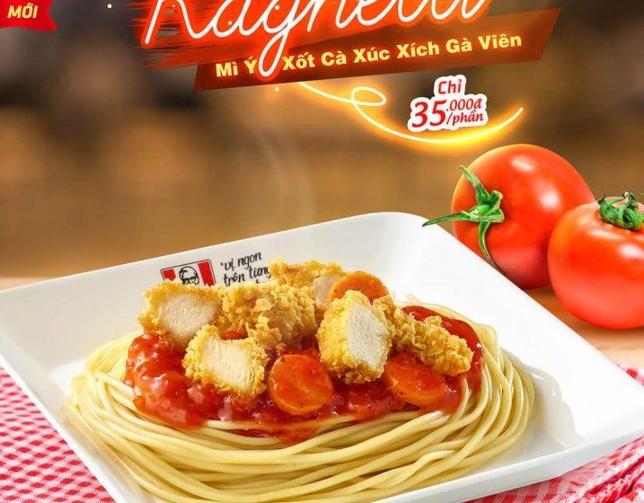 """KFC Vietnam ha lanciato i suoi spaghetti """"all'italiana"""" con pollo fritto"""