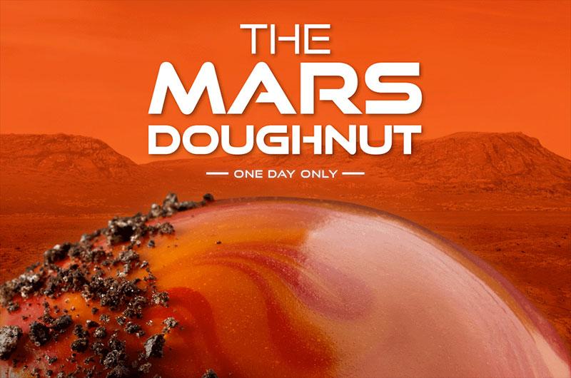 Krispy Kreme celebra l'atterraggio su Marte con una limited edition