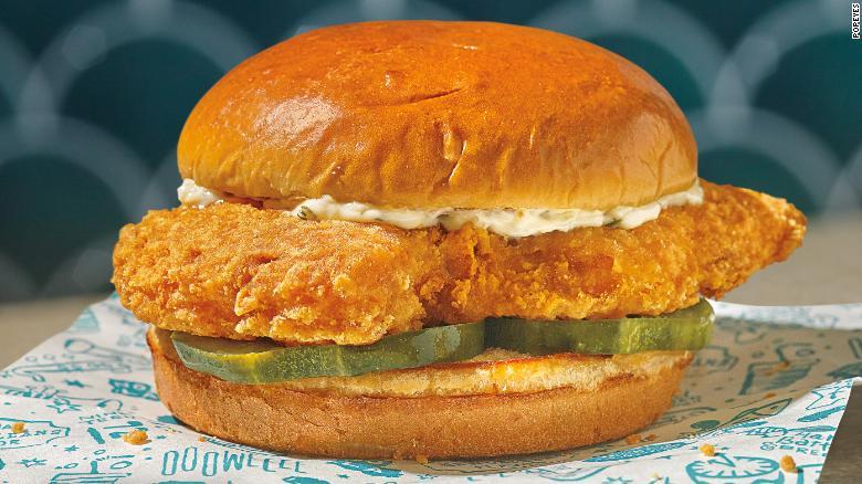 Popeyes lancia un panino con solo pesce