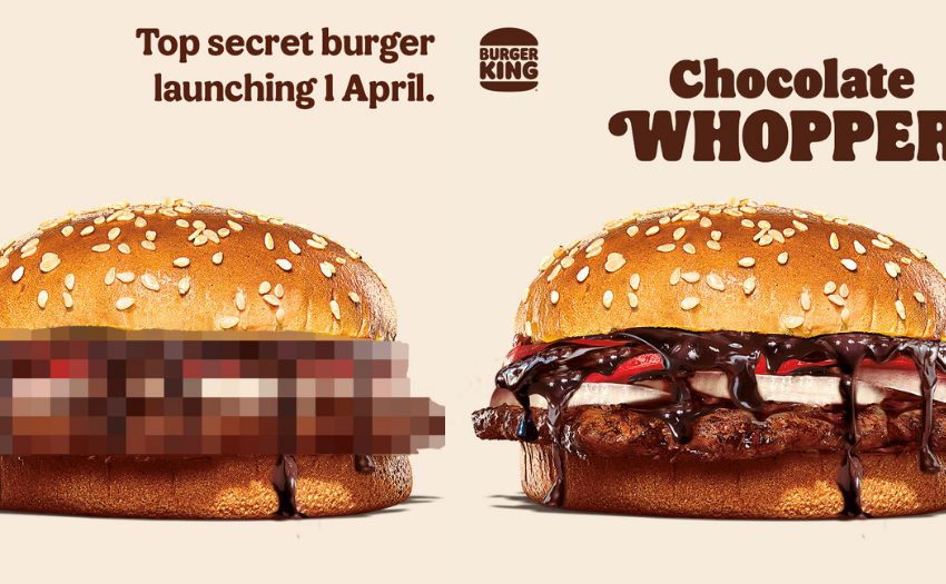 Burger King Singapore lancia un Whopper con il cioccolato