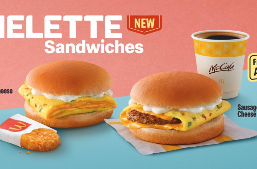 McDonald's Malesia lancia due nuovi sandwich con l'omelette
